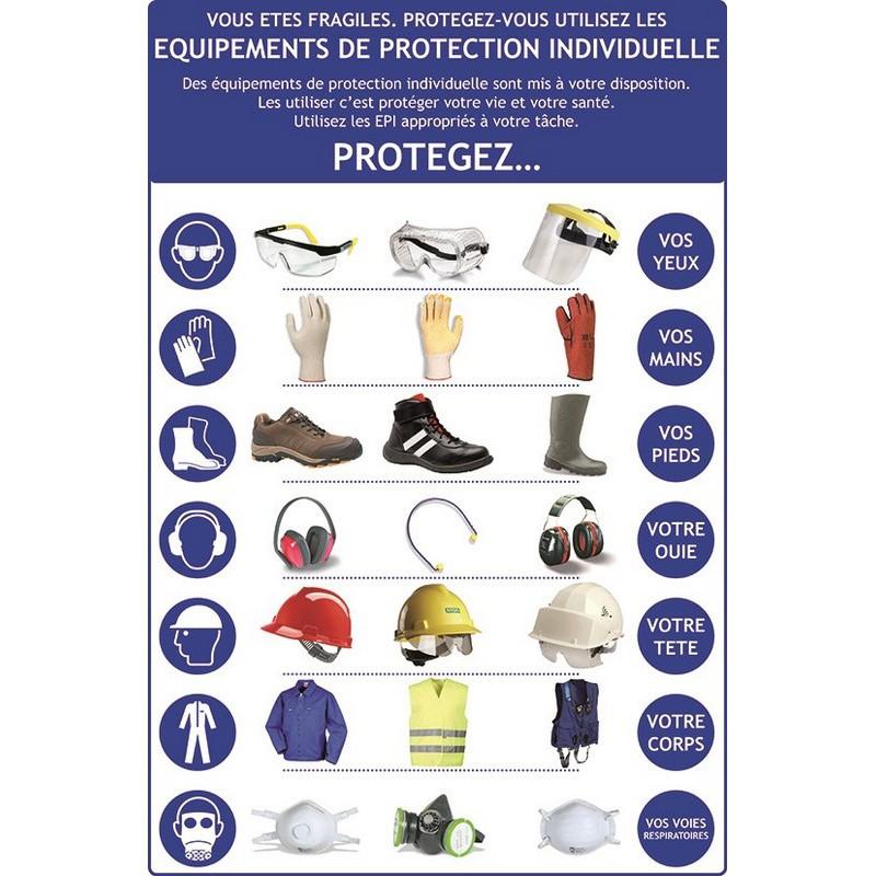 Panneau pour sensibiliser le personnel au port des epi panosur - Sensibilisation au port des epi ...