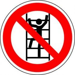 Panneau Ne pas monter à l'échelle