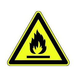 Panneau Danger matières inflammables