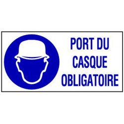 602f994f99fc9b PANNEAU GRAND FORMAT PORT DU CASQUE OBLIGATOIRE + PICTO