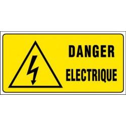 957a9c50d94b80 PANNEAU GRAND FORMAT DANGER ELECTRIQUE + PICTO