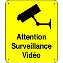 panneau attention surveillance video panosur. Black Bedroom Furniture Sets. Home Design Ideas