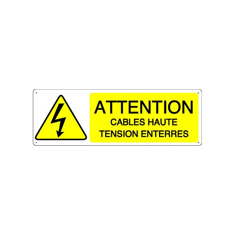 Panneau danger attention cables haute tension enterres for Haute tension mots fleches