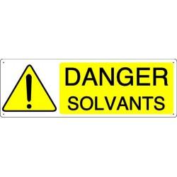 Panneau DANGER SOLVANTS