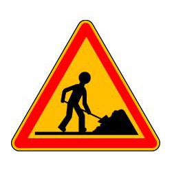 Panneaux de chantier ATTENTION CHANTIER