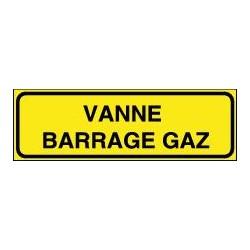 Panneau Vanne Gaz