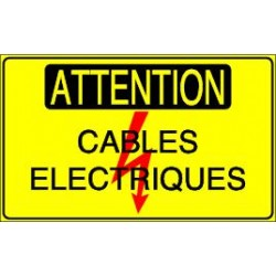 Panneau Attention Cables Electriques