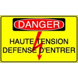Panneau Danger Haute tension Défense d'entrer