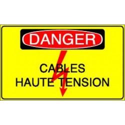 Panneau Danger Cables Haute Tension