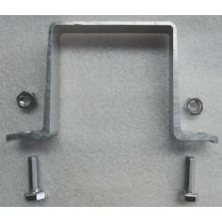 Bride simple face pour support acier pour 80x80