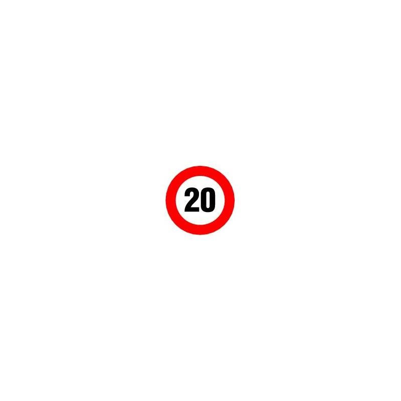 panneau limitation de vitesse 20 km h panosur. Black Bedroom Furniture Sets. Home Design Ideas
