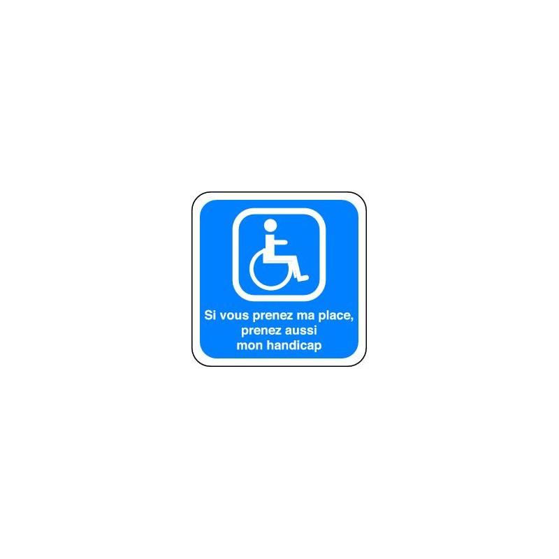 panneau parking handicape panosur. Black Bedroom Furniture Sets. Home Design Ideas
