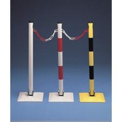 Poteaux sur socle rabattable - Blanc/Rouge