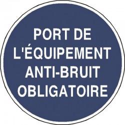 Panneau Port de L'Equipement Anti Bruit Obligatoire