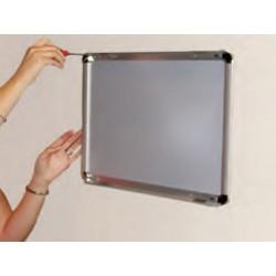 Cadre vitrine en aluminium pour plan d'évacuation, consigne, note de service