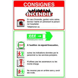 Consignes de sécurité pour couloir HOPITAUX, CLINIQUES, MAISONS DE RETRAITE