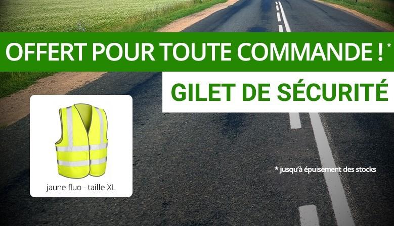 Gilet sécurité offert