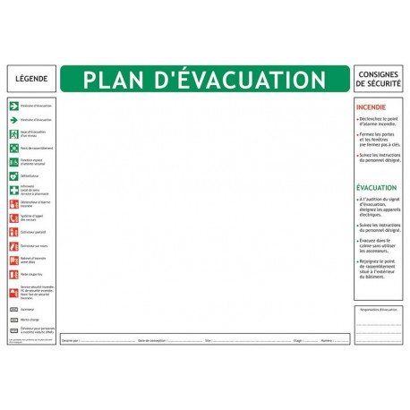 FOND DE PLAN D'EVACUATION PAPIER