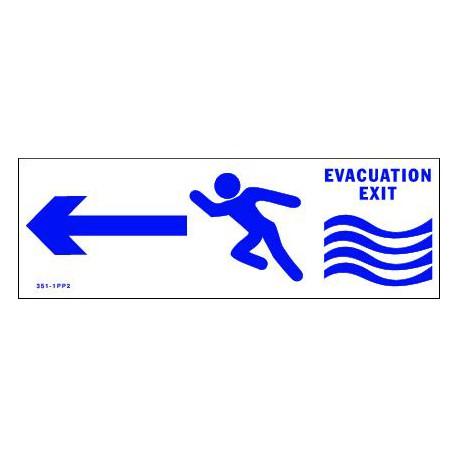 PANNEAU D'EVACUATION CAMPING EN CAS D'INONDATION
