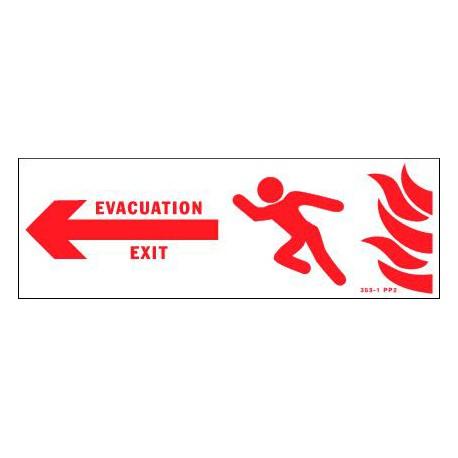 PANNEAU D'EVACUATION CAMPING EN CAS D'INCENDIE
