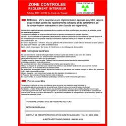 Consigne radiologie ZONE CONTROLEE