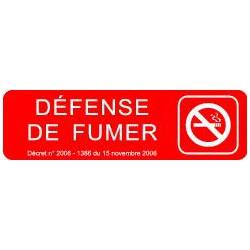 Plaque gravée DEFENSE DE FUMER