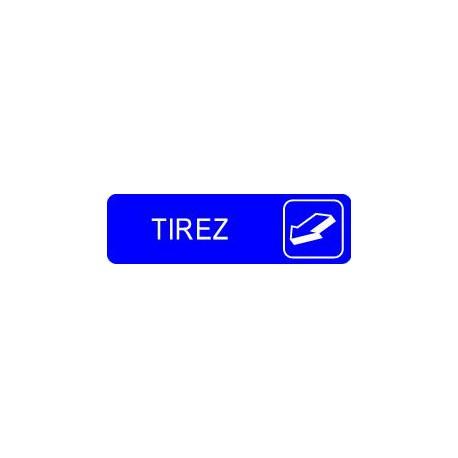 Plaque gravée TIREZ (HORIZONTALE)