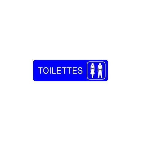 Plaque gravée TOILETTES HOMMES/FEMMES
