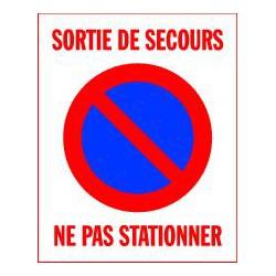 SORTIE DE SECOURS NE PAS STATIONNER