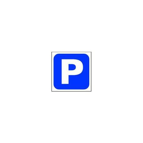 PANNEAU PARKING. POLYPRO 2 MM, FORMAT : 300X300 MM