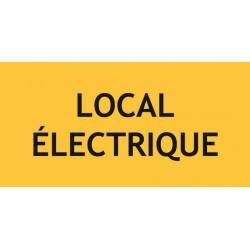 Panneau LOCAL ELECRIQUE