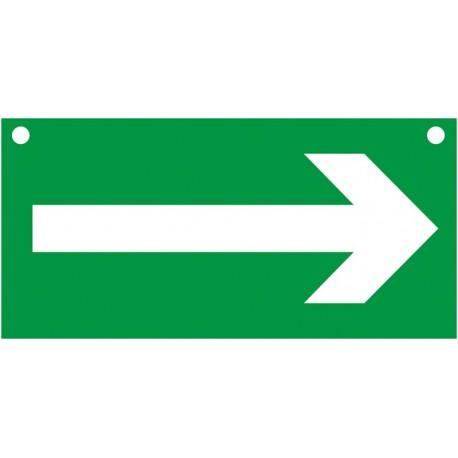 Flèche Directionnelle Recto/Verso, percé de 2 trous pour suspension