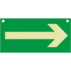 Flèche directionnelle, Recto/Verso, percé de 2 trous pour suspension