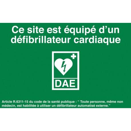 Site équipé d'un défibrillateur cardiaque