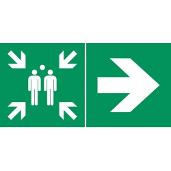 Point de rassemblement  (à droite)