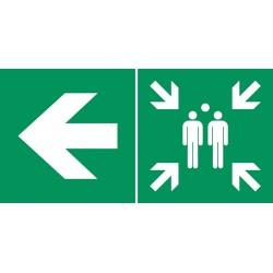 Point de rassemblement  (à gauche)
