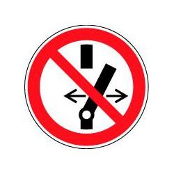 Panneau Ne pas modifier la position de l'interrupteur