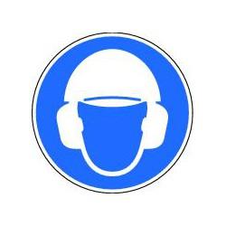Panneau Obligation de porter casque et casque anti-bruit