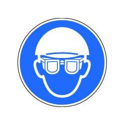 Panneau Obligtion de porter casque et lunettes de protection