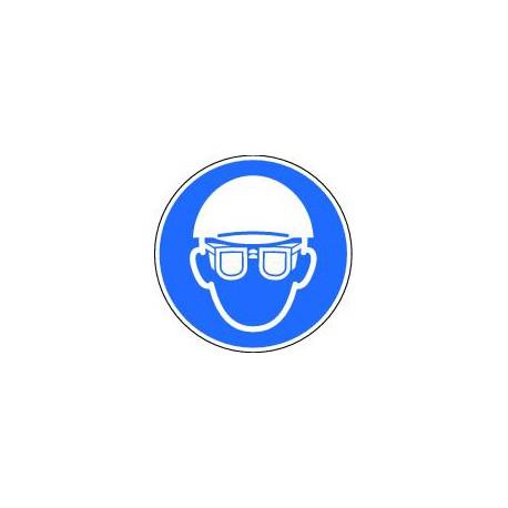 Casque et lunettes de protection obligatoire