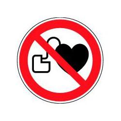 Panneau Entrée interdite aux porteurs d'un stimulateur cardiaque