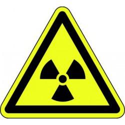 Panneau Danger matières radioactives ou radiations ionisantes