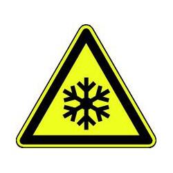 Panneau Danger basses températures, conditions de gel