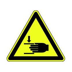 Danger écrasement des mains
