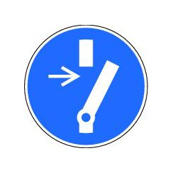 Panneau obligation de débrancher avant d'effectuer une activité de maintenance ou de réparation