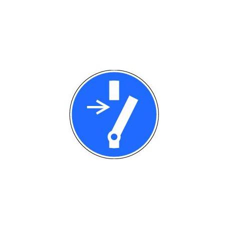 Obligation de débrancher avant d'effectuer une activité de maintenance ou de réparation
