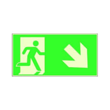 Evacuation vers le bas à Droite