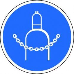 Panneau Chaînes obligatoires pour bouteilles de gaz