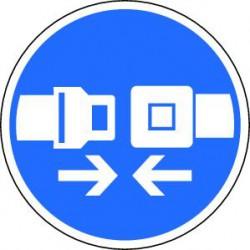 Panneau Attacher la ceinture de sécurité