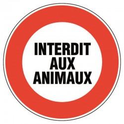 INTERDIT AUX ANIMAUX